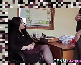 office cfnm handjob